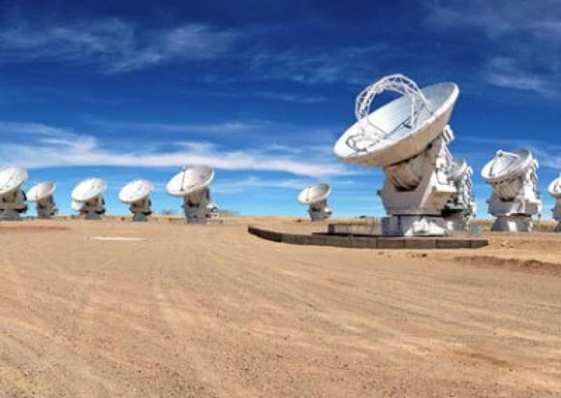 ALMA antennas on the Chajnantor Plateau 5000 mtr - 2013